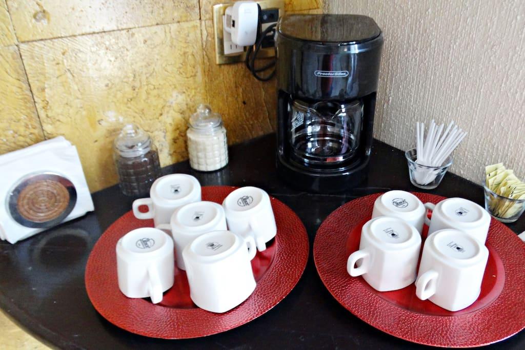 Cafetera a su servicio
