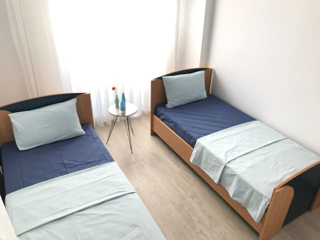 Bedroom with two single Bed