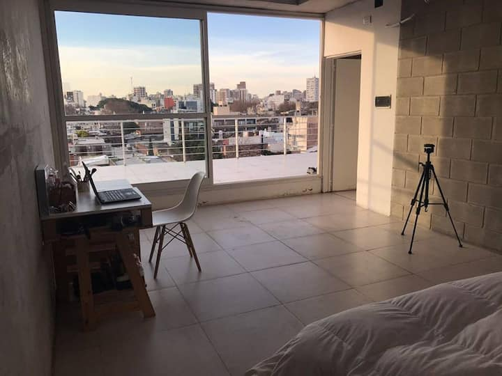 Fully furnished room with private bathroom