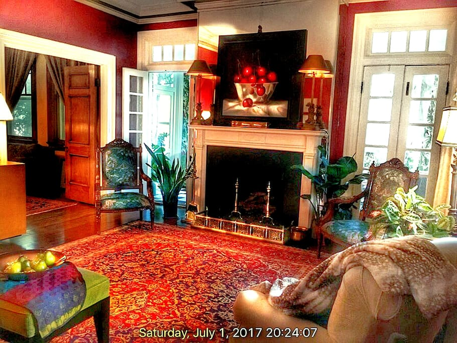 ...in this stately, 1923 Georgian 'writer's cottage', right in the heart of our Vineville Historic District.