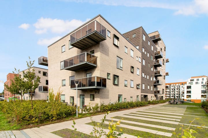 Newly built modern and bright apartment located in Åbyhøj.