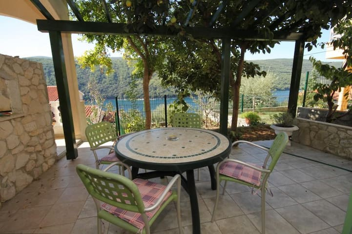 One bedroom apartment with terrace and sea view Duga Luka (Prtlog) (Labin) (A-3025-c)