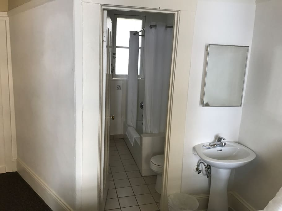 Room comes with its own private bathroom!