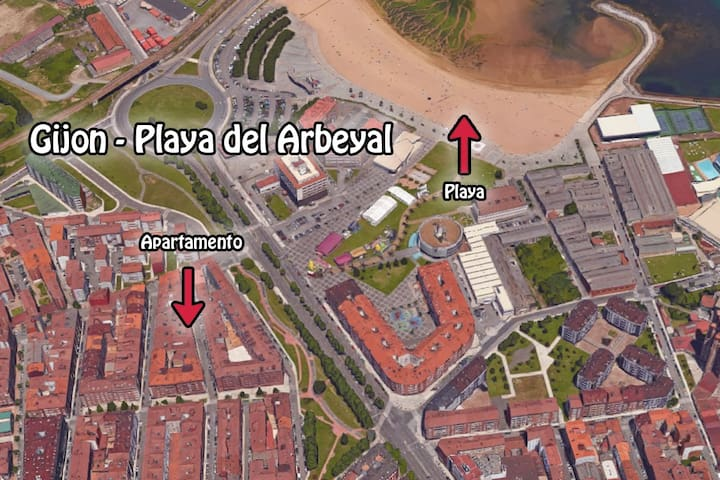 GIJON (LA CALZADA) - PLAYA DEL ARBEYAL - Gijón - Appartement
