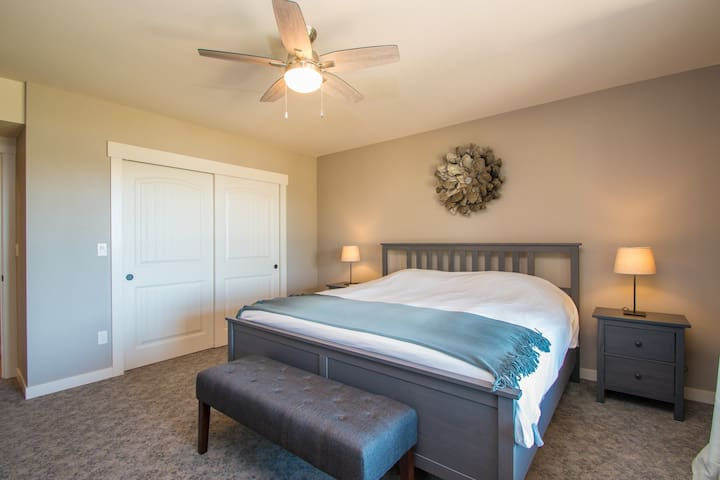 Full bedroom with king sized bed