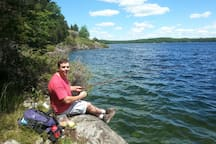 Hiking and fishing in the provincial park.
