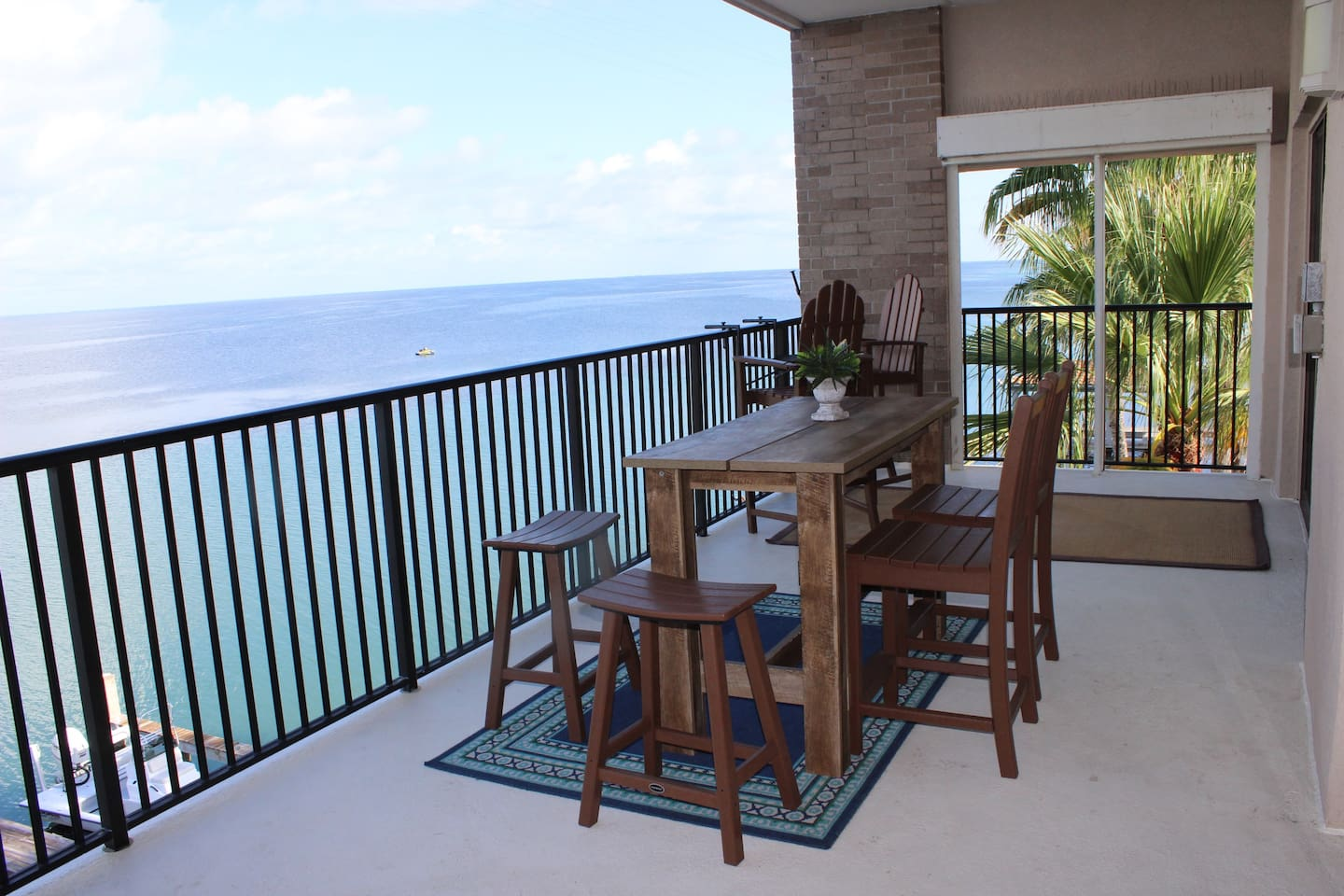 Private Balcony with seating for 6