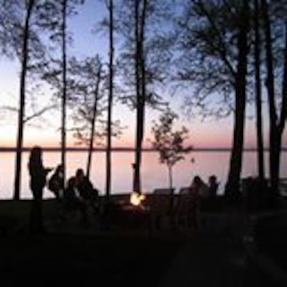 Sunset lakeside