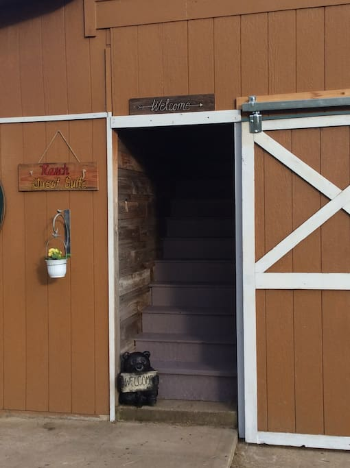 Entrance to the Ranch Guest Suite