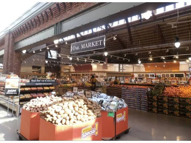 Great market at 8th & O Street. Many to choose. Grocery delivery (free) and within two hours. Safeway & Giant deliver. Or use a LYFT or UBER.