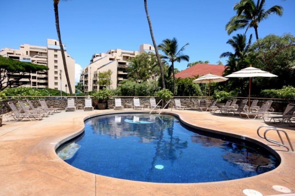 Community pool for you to enjoy while staying at Kahana Villa.