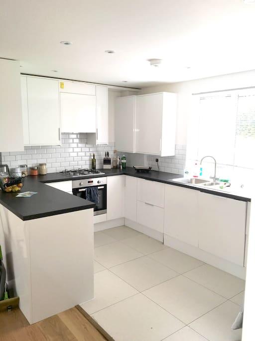 Modern kitchen with amenities
