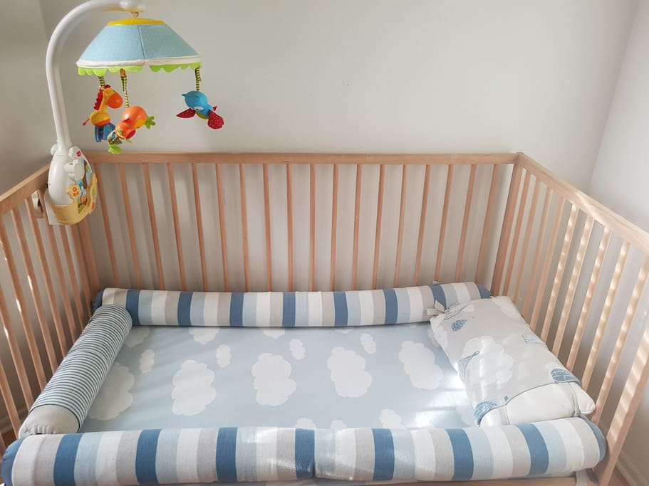 there is a cot for babies