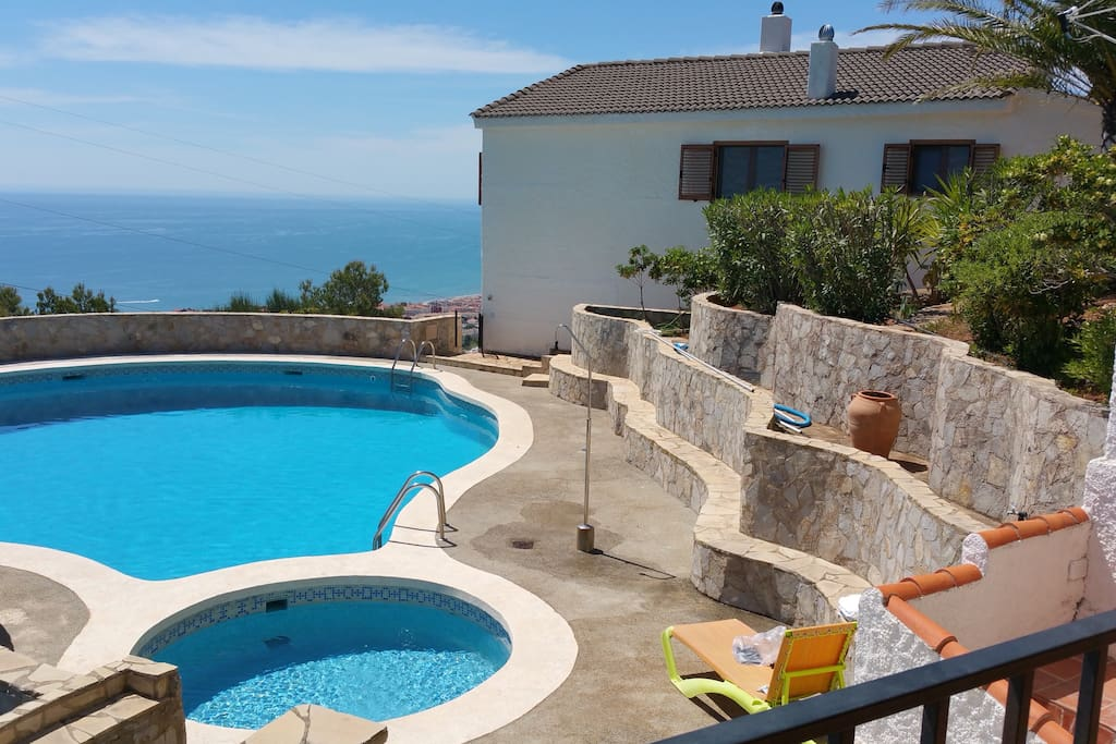 Overlooking Private Breizas pool from pool terrace