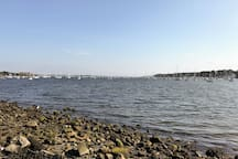 Narragansett Bay as seen from Poppasquash Road in Bristol, RI. Photo taken while on a leisure ride down the bike path from Warren.