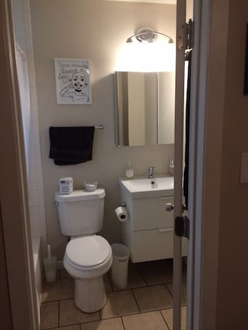 Private bathroom connected to bedroom