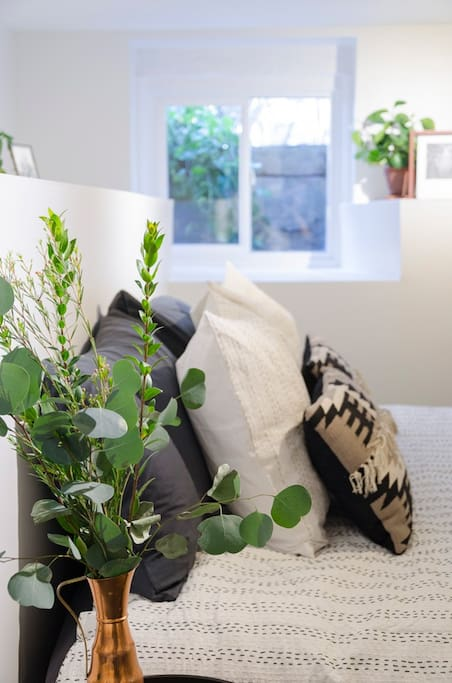 We love plants and keeping the space fresh and welcoming