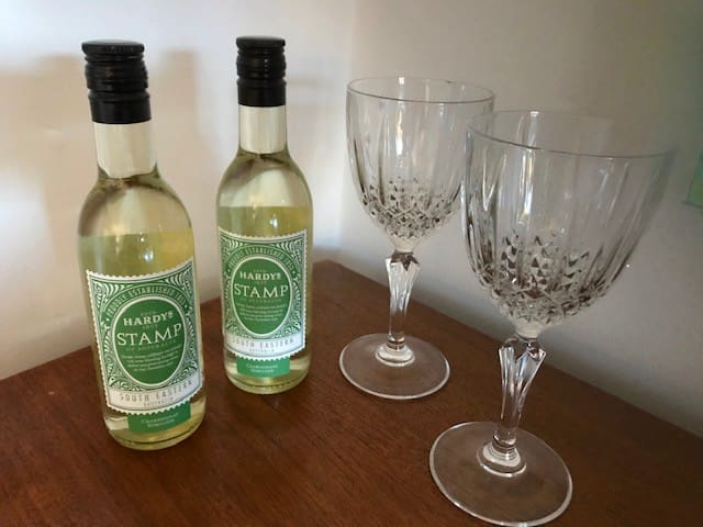 Welcome glass of wine on arrival!