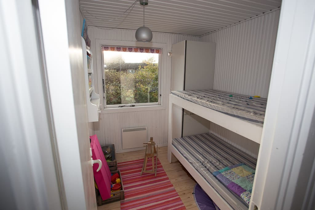 Children's room with bunk beds.
