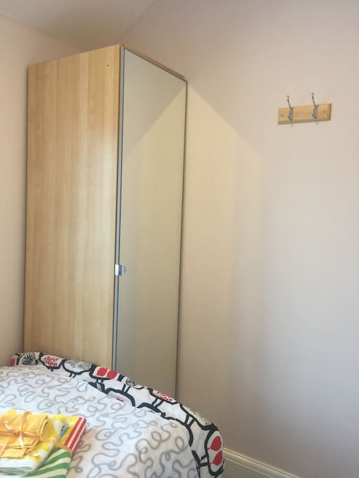 Wardrobe with full length mirror