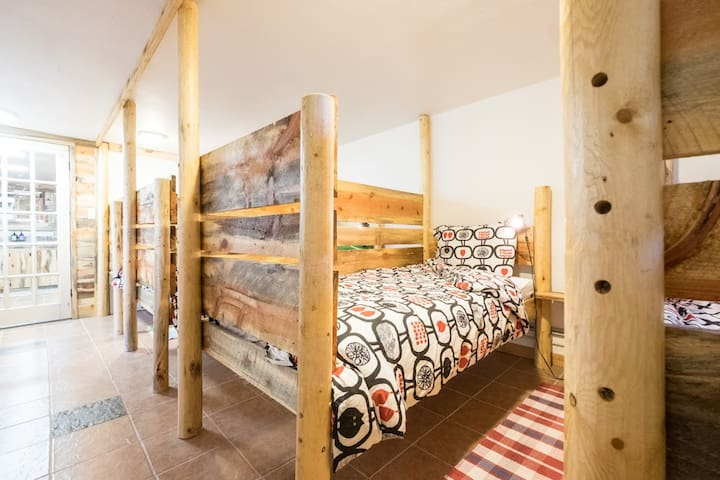 Dormitory lower level- 6 custom made twin beds