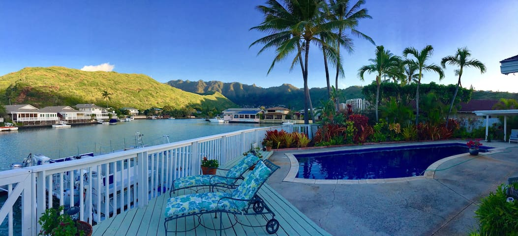 Master on the stunning waterfront. - Honolulu - Casa