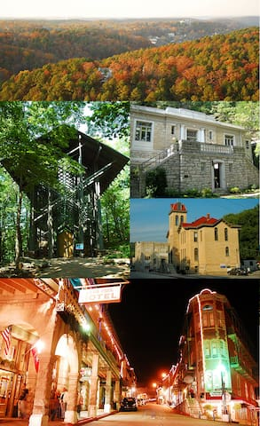 Breathtaking views and historic Eureka Springs are all within a short 40 minute drive.