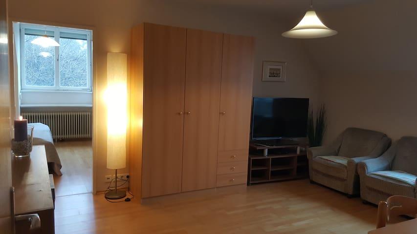 Wohnzimmer mit HD-TV