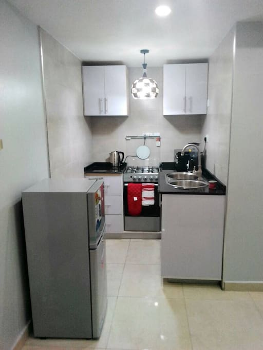 Fully fitted self contained kitchen