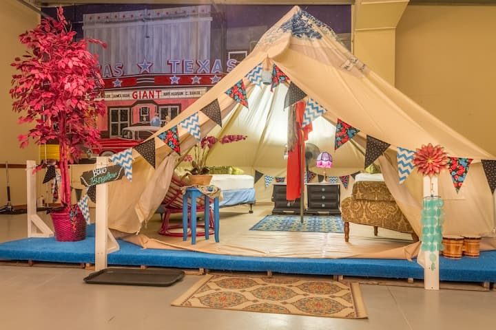 Teepee-Boho Bungalow inside Lone Star Glamp Inn