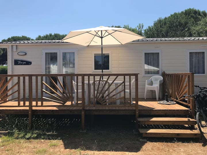 Location  MH 4 pers. camping Hérault (34)