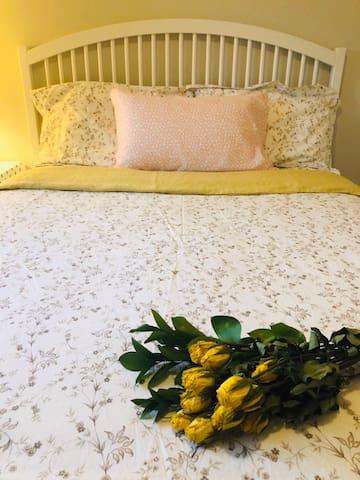 Big bright Queen-Bedroom