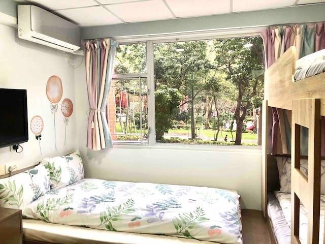≛阿木 AMU Sweet Quadruple Room, TST MTR 4mins≛
