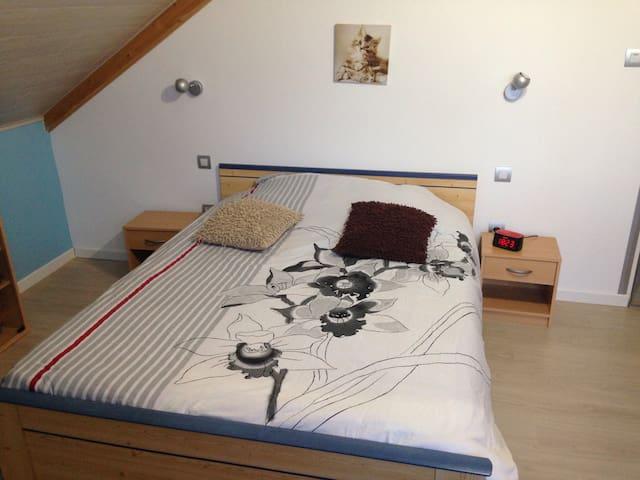 Chambre avec lit double - La Chenalotte  - Haus