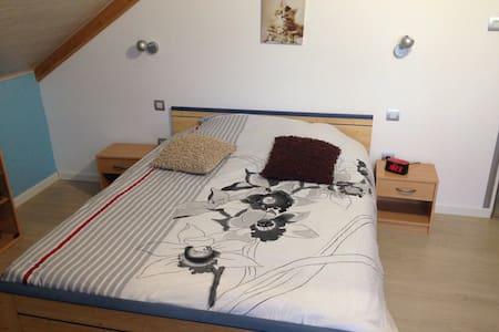 Chambre avec lit double et TV - Rumah
