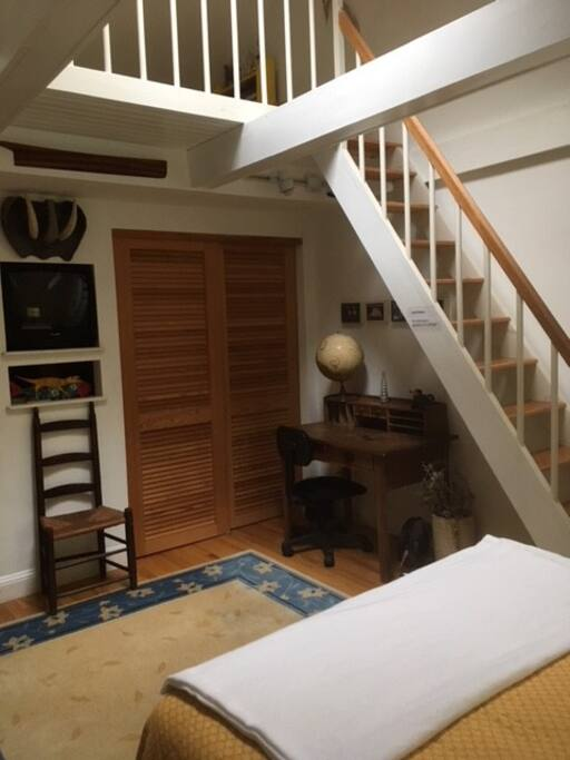 View of the loft in guest bedroom