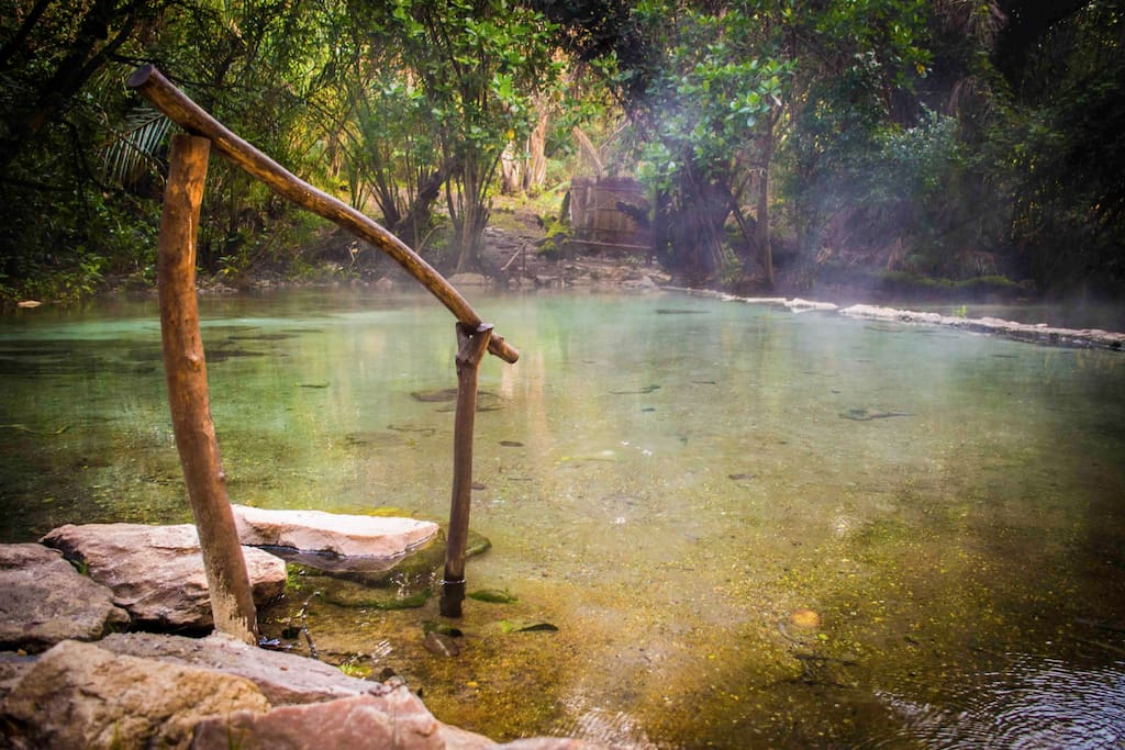 Natural Sulfur Free Hot Springs