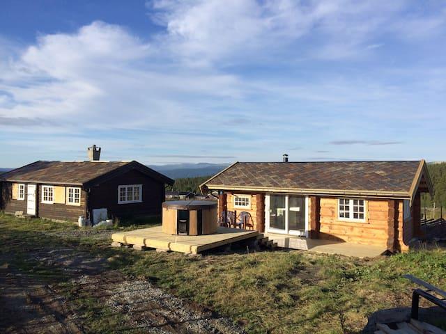 Cabin near Rondane and Jotunheimen National Parks.
