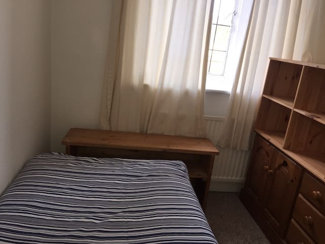 Small room, great price. Perfect for short stay.