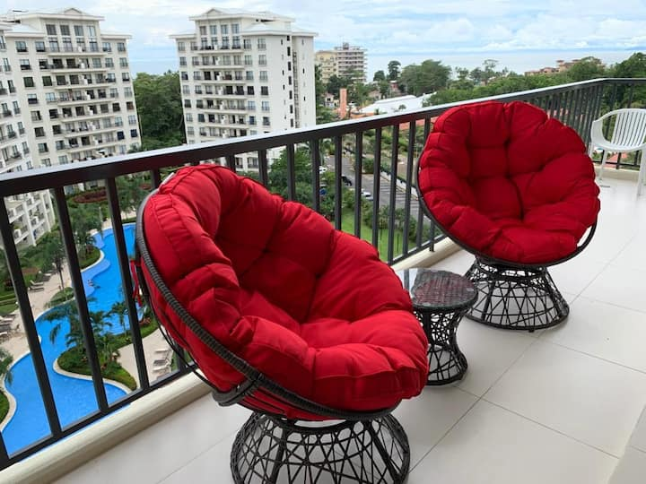 Incredible Value 3 Room Ocean View Condo in Jaco!