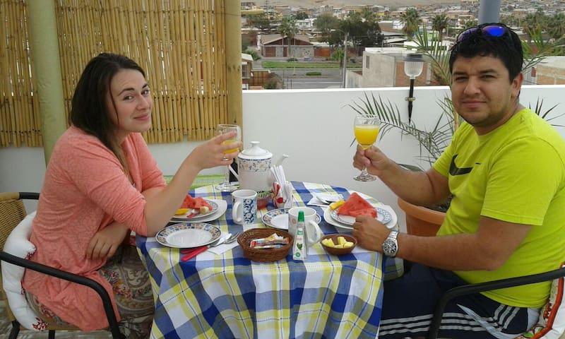 Habitacion individual Primer Piso, N°4,Valto&Ziron - Arica - Oda + Kahvaltı
