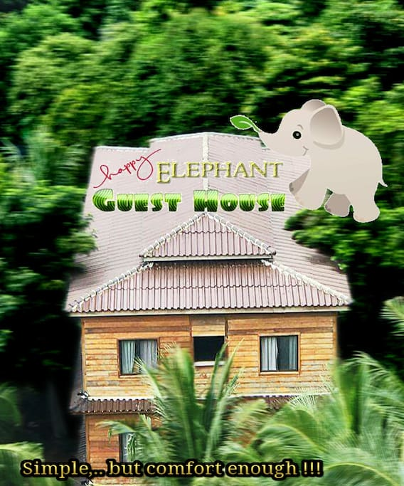 SIMPLE,.. BUT COMFORT ENOUGH - Happy Elephant Guesthouse and Bar check it now >> https://goo.gl/NZiXwx