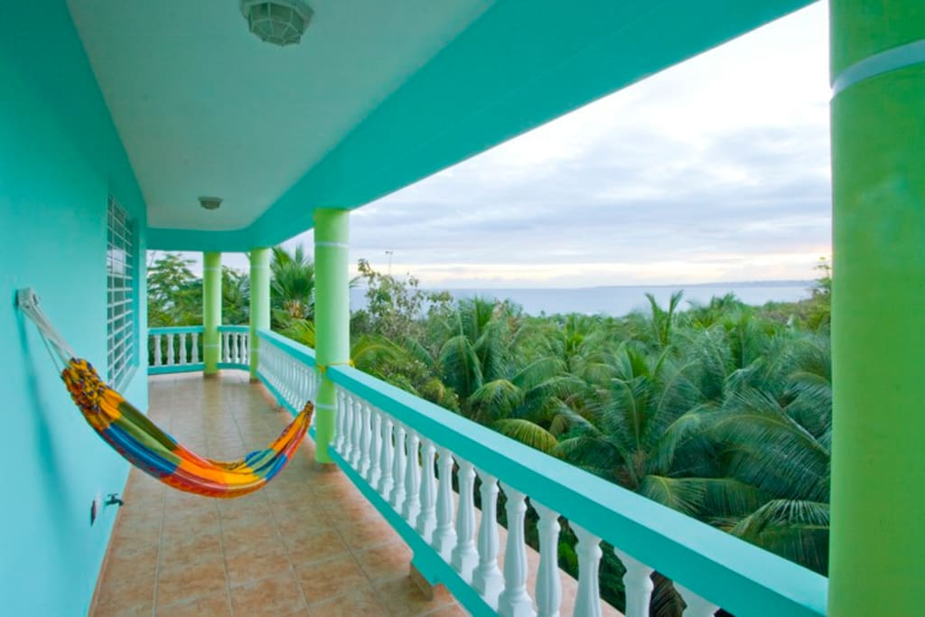 Hammocks with an ocean view from Villa Taino