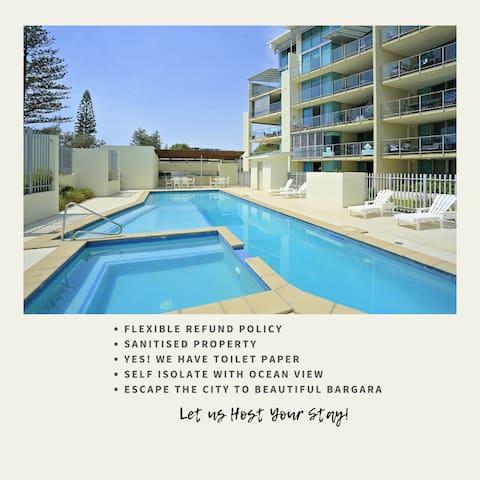 ❤️Doctors/Medical Staff❤️Luxury Oceanfront Accommodation❤️Dwell Ocean View Spa Retreat Bargara❤️FREE WIFI/Netflix/Wine/Parking❤️Onsite Pool & Gym❤️