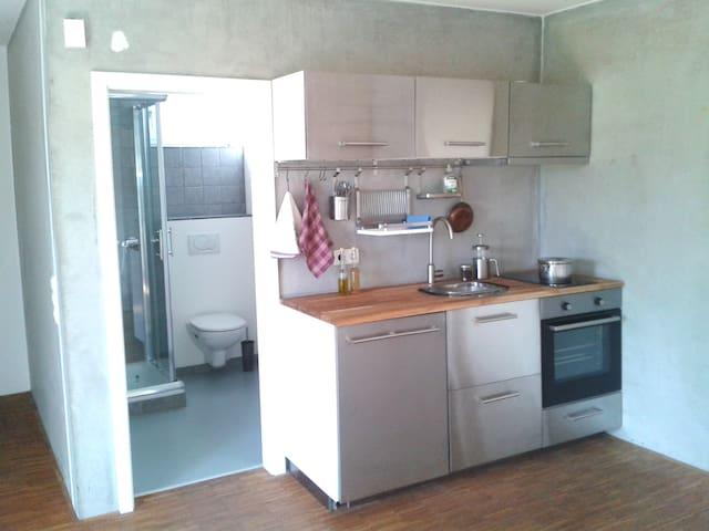 Kleine Einliegerwohnung mit Küche und Bad - Leinach - Apartament