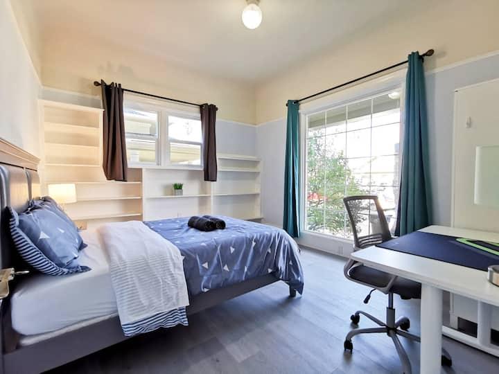 177A- Street-View Cozy Bedroom near SJSU & Airport