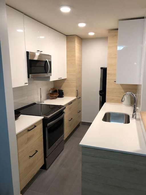 Kitchen, stainless steel appliances, quartz countertops, full renovation completed in November 2018