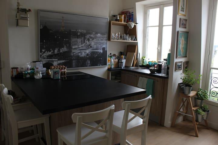 Chambre privée dans joli appartement parisien