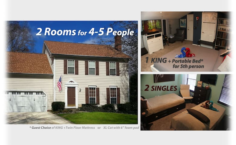 2 Rooms/Sleeps 5 ◇ Walk to PNC Concerts ◇ Hot Tub!