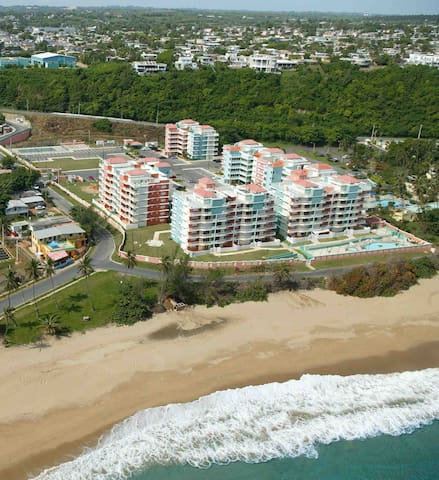 Arial view of Isabela Beach Court Complex